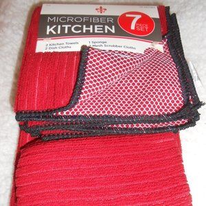 New 7 piece microfiber kitchen towels cloths set